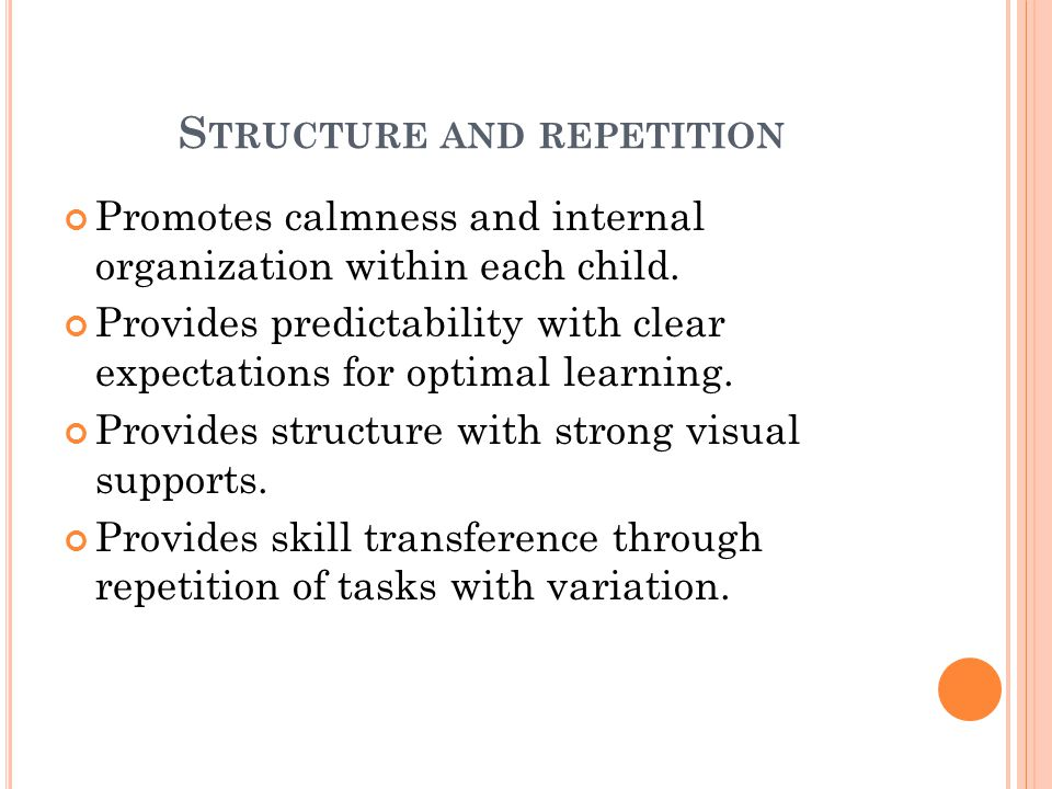 Structure and repetition