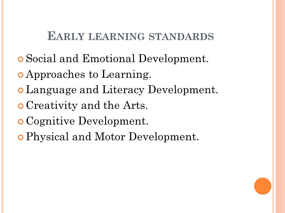 Early learning standards