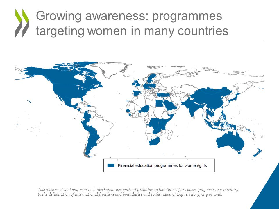 Growing awareness: programmes targeting women in many countries