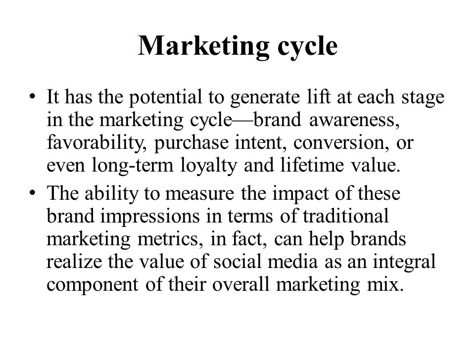 Marketing cycle