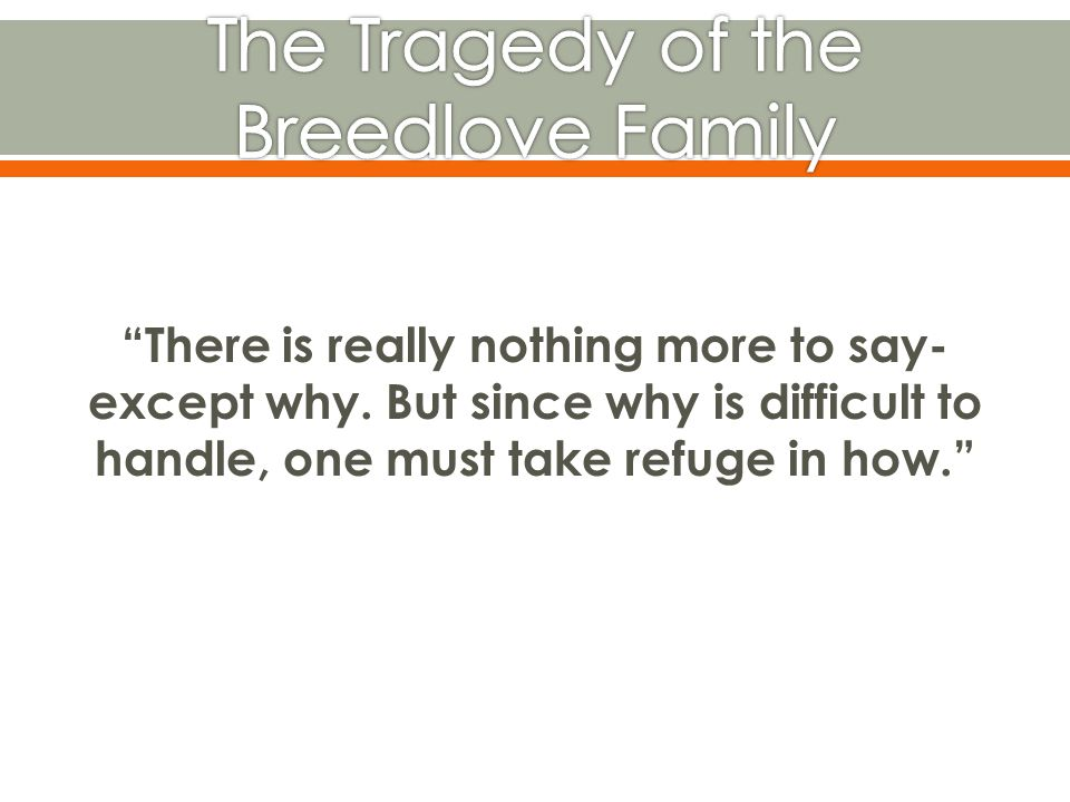 The Tragedy of the Breedlove Family