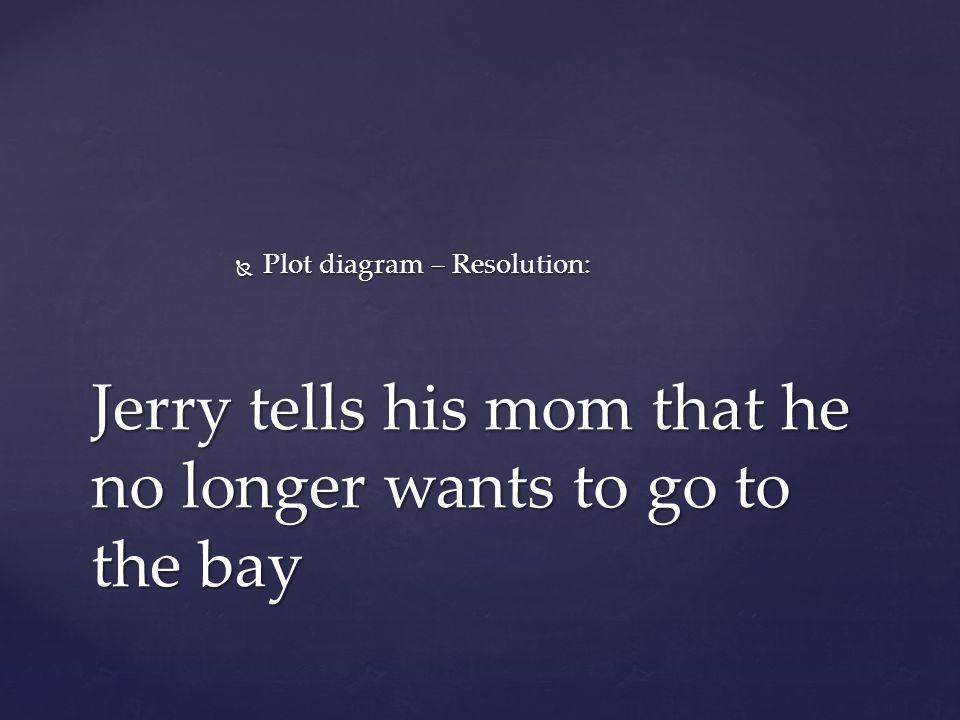 Jerry tells his mom that he no longer wants to go to the bay