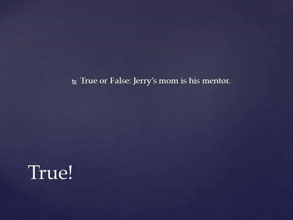 True or False: Jerry's mom is his mentor.