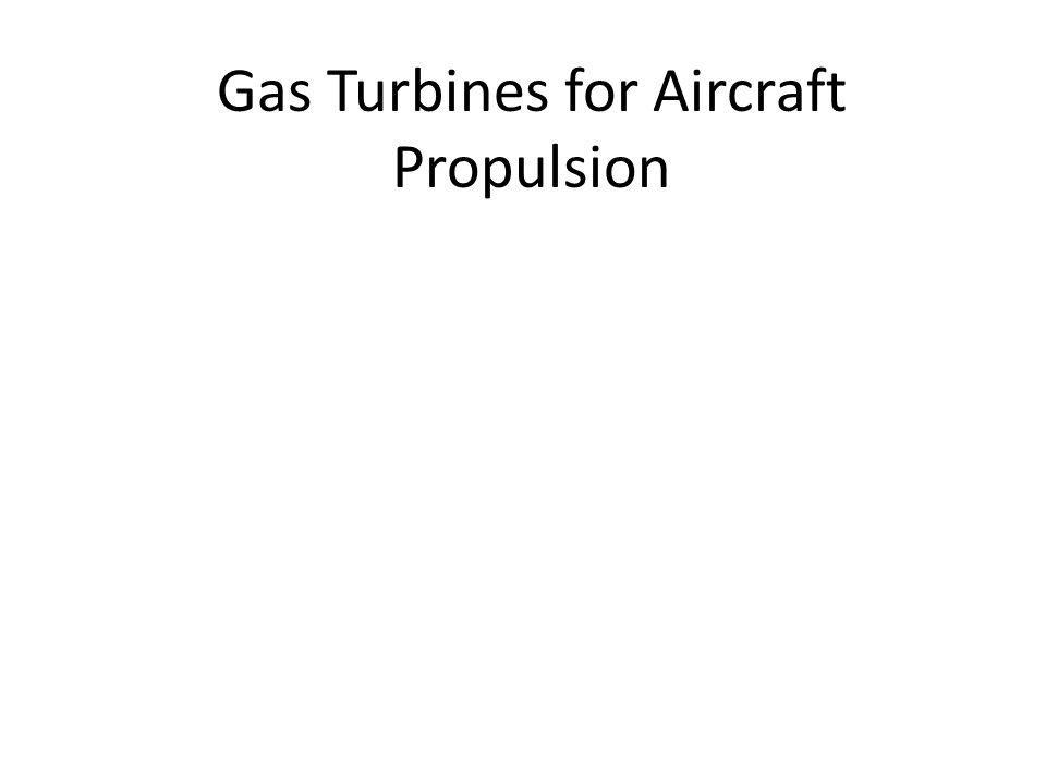Gas Turbines for Aircraft Propulsion