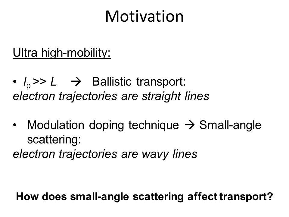 How does small-angle scattering affect transport