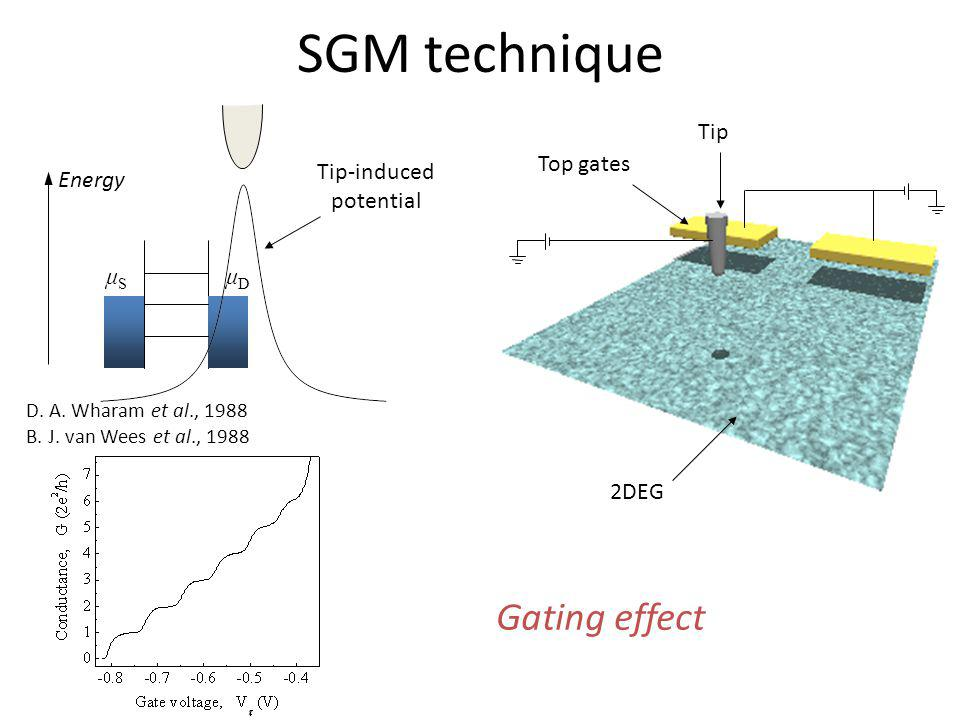 SGM technique Gating effect Tip Top gates Tip-induced potential μS μD