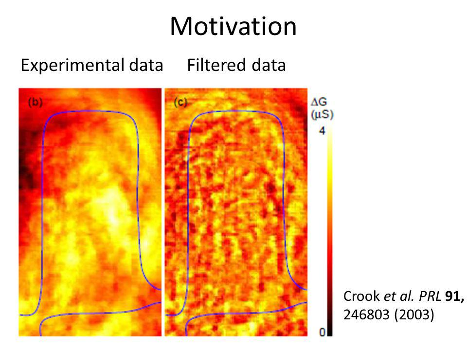 Motivation Experimental data Filtered data Crook et al. PRL 91,