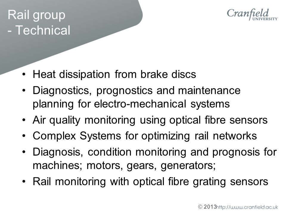 Rail group - Technical Heat dissipation from brake discs