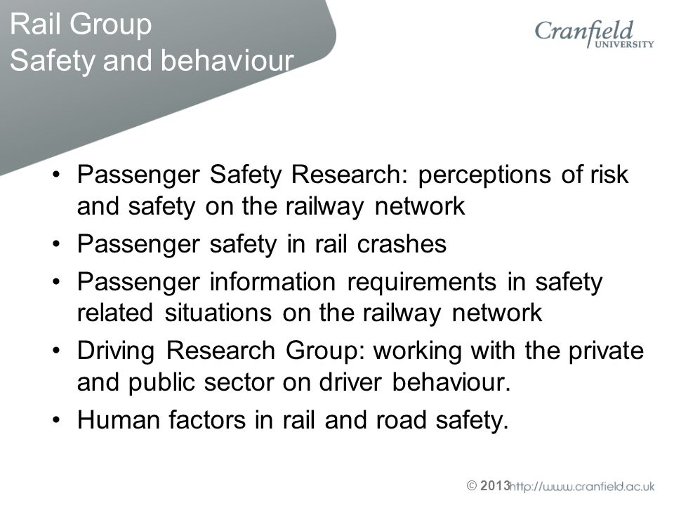 Rail Group Safety and behaviour
