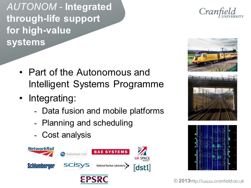 AUTONOM - Integrated through-life support for high-value systems
