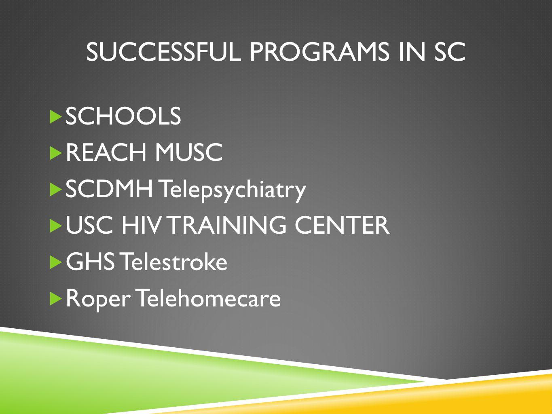 Successful programs in sc