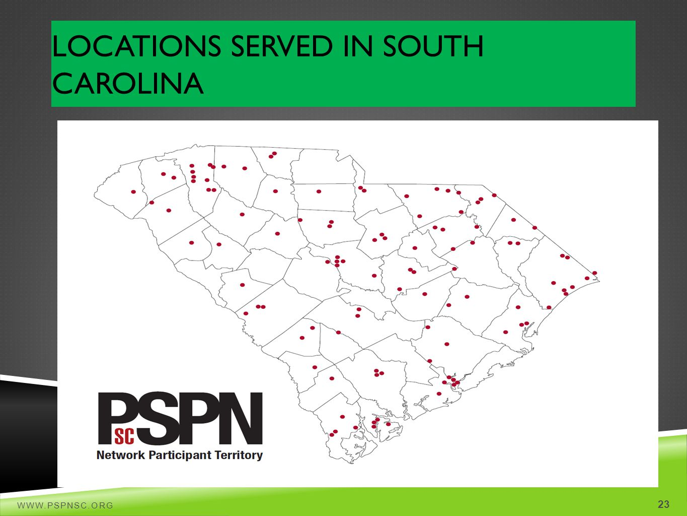 Locations Served in South Carolina