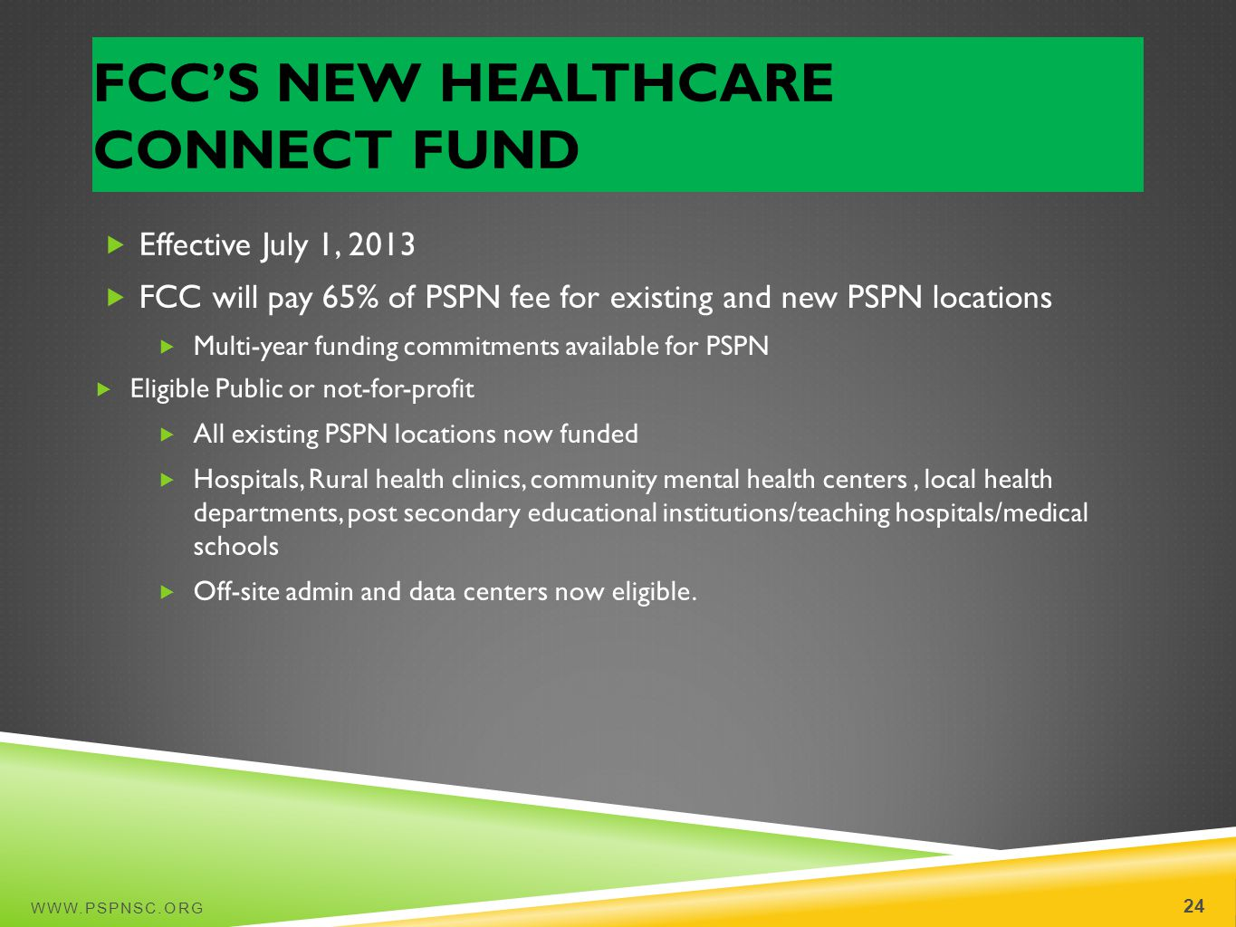 FCC's New Healthcare Connect Fund