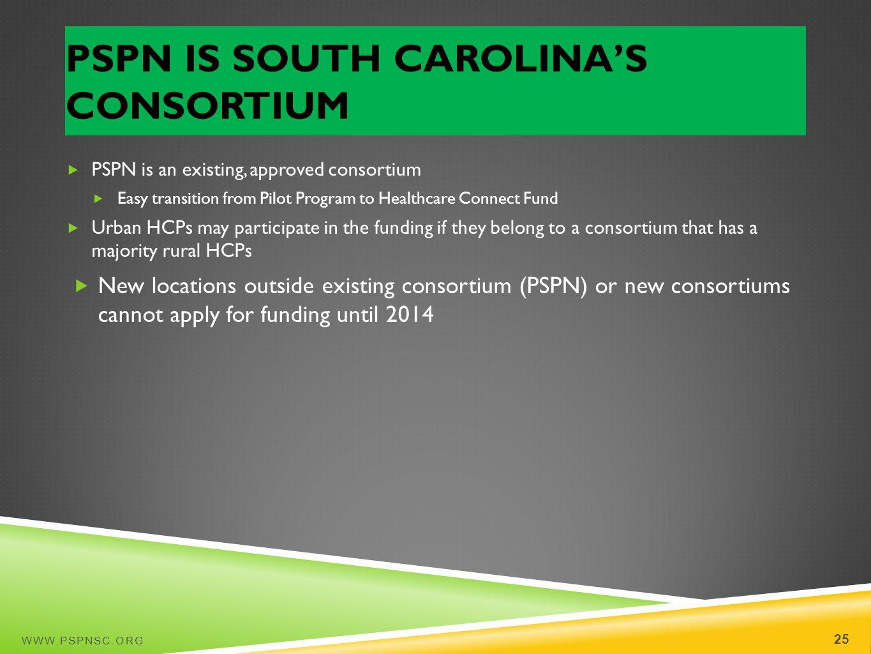 PSPN Is South Carolina's Consortium