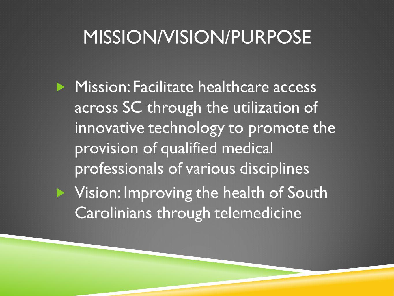 Mission/vision/purpose