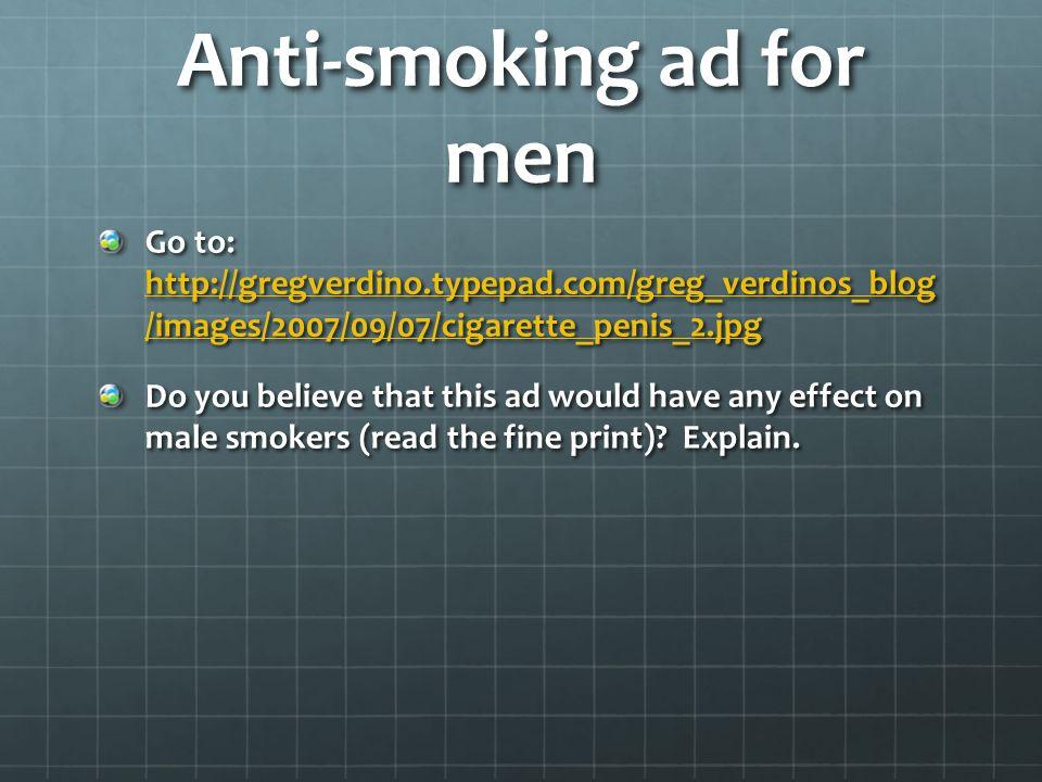 Anti-smoking ad for men