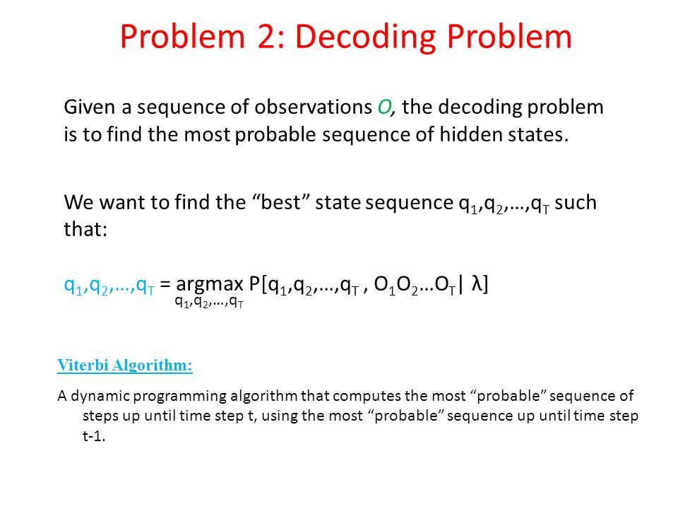 Problem 2: Decoding Problem