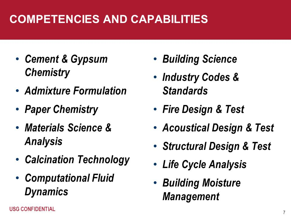 COMPETENCIES AND CAPABILITIES