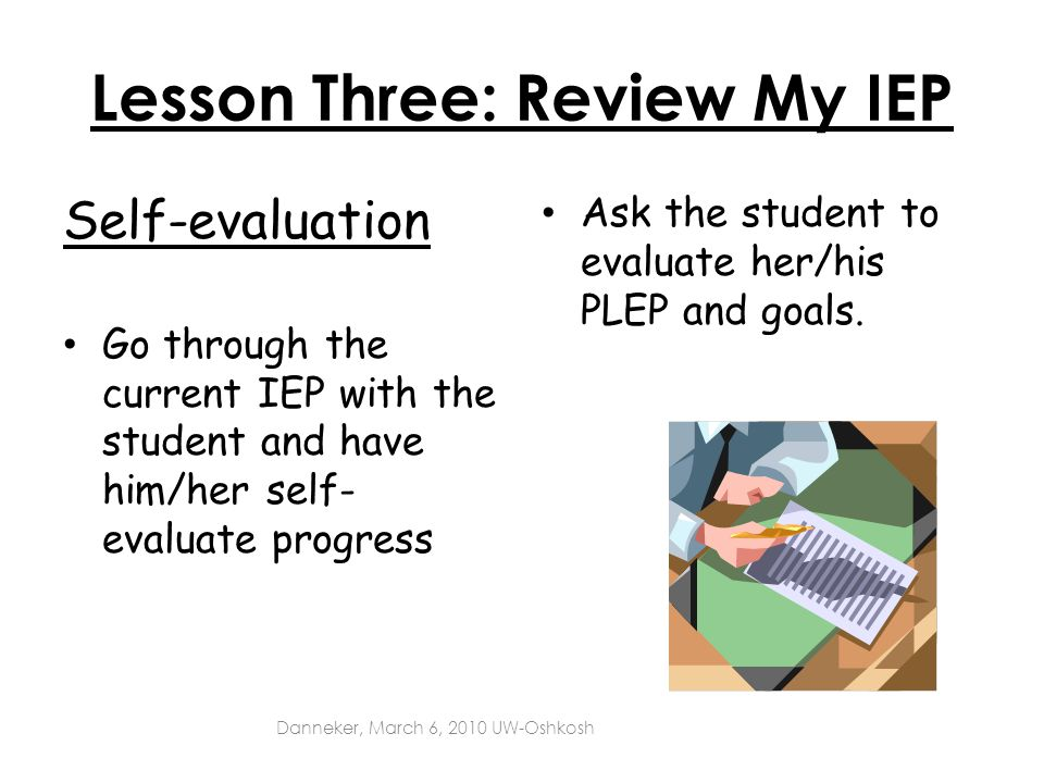 Lesson Three: Review My IEP