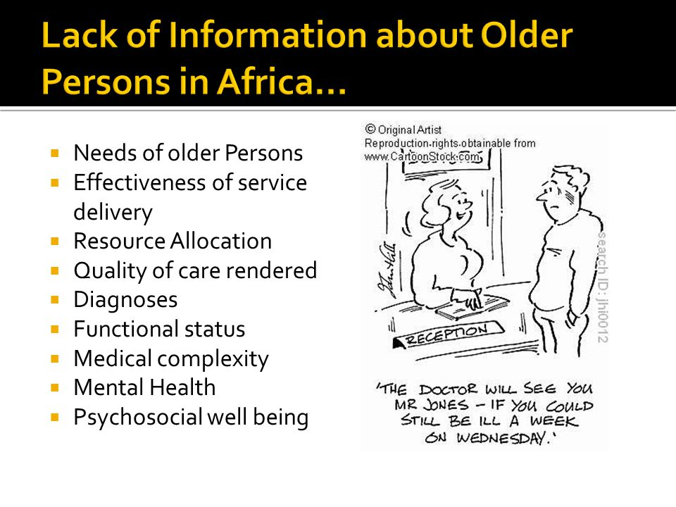 Lack of Information about Older Persons in Africa…