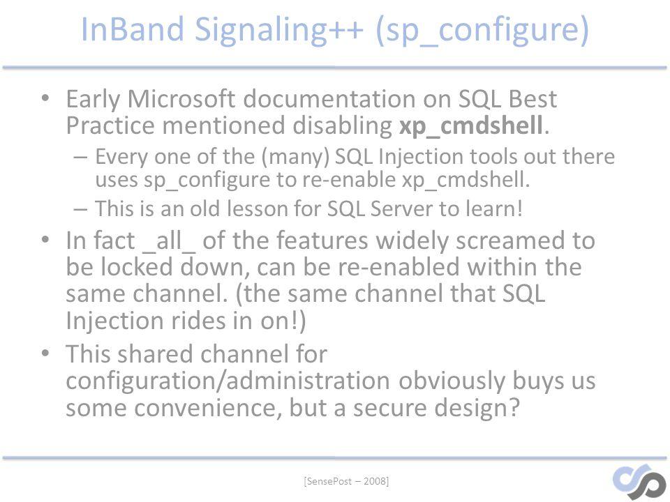 InBand Signaling++ (sp_configure)
