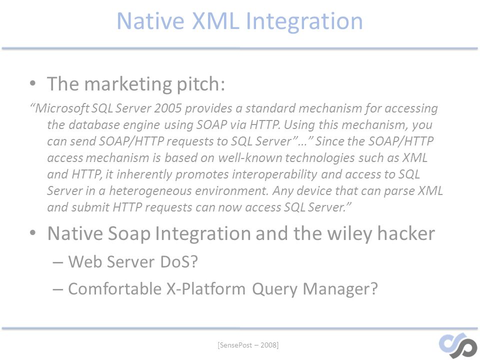Native XML Integration
