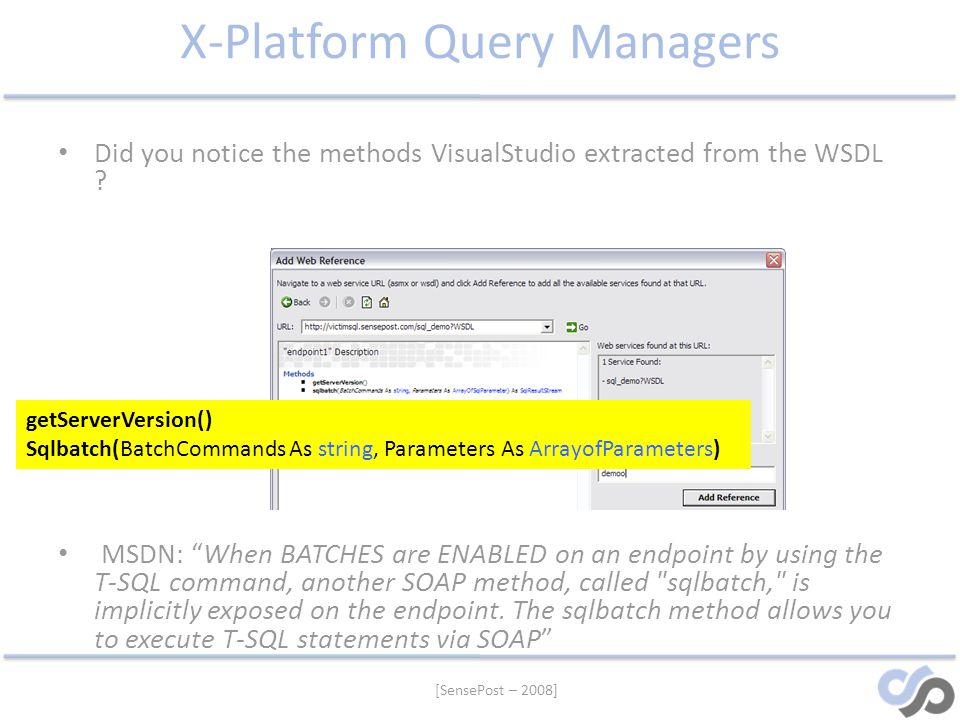 X-Platform Query Managers