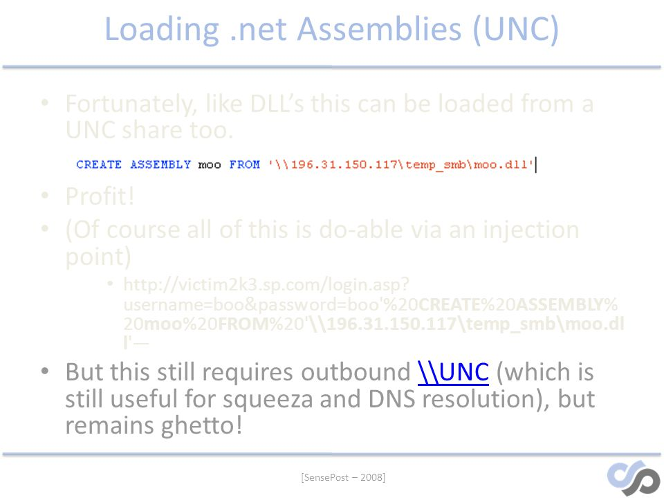 Loading .net Assemblies (UNC)