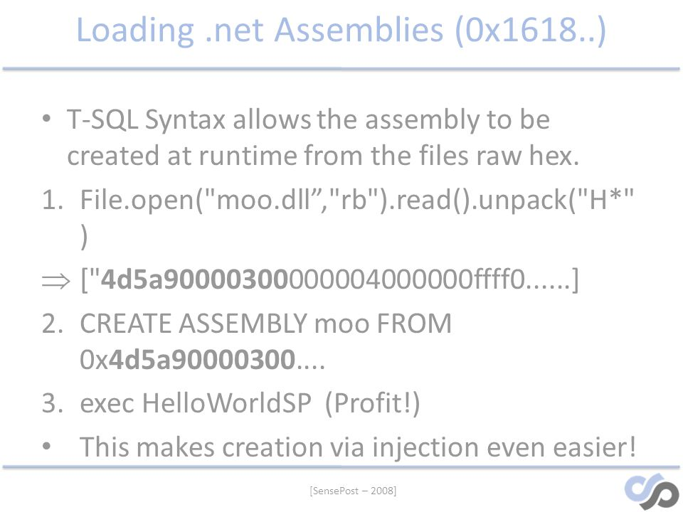Loading .net Assemblies (0x1618..)