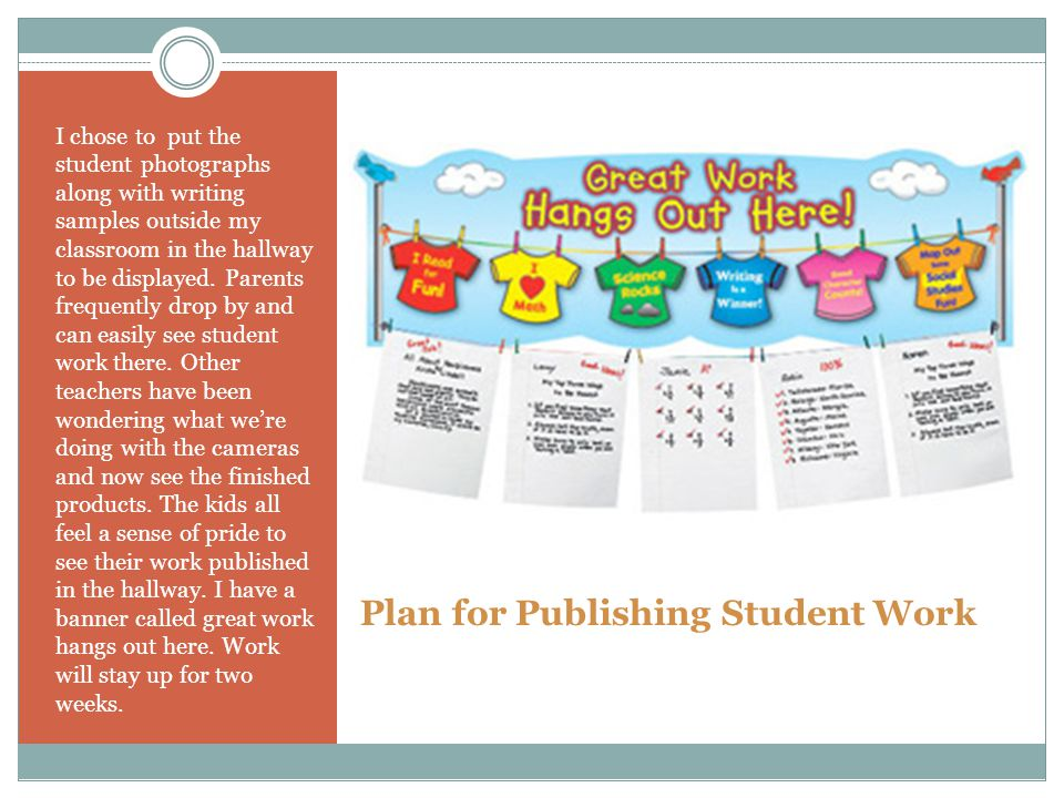 Plan for Publishing Student Work