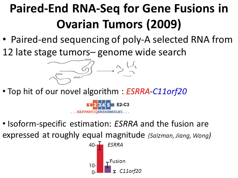 Paired-End RNA-Seq for Gene Fusions in Ovarian Tumors (2009)