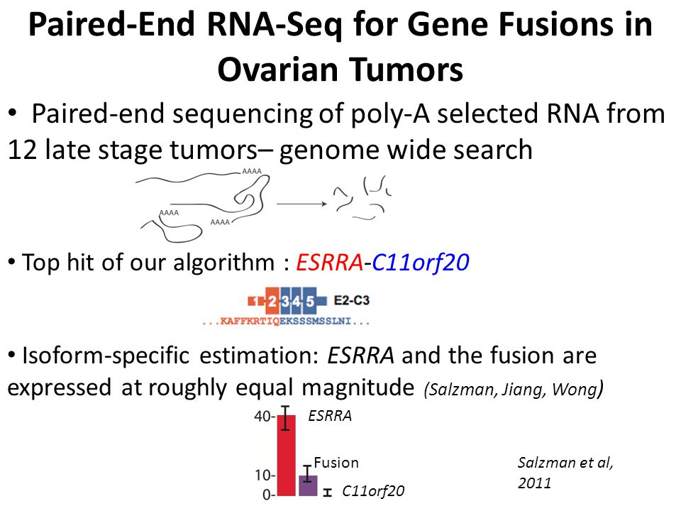 Paired-End RNA-Seq for Gene Fusions in Ovarian Tumors