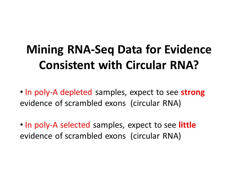 Mining RNA-Seq Data for Evidence Consistent with Circular RNA
