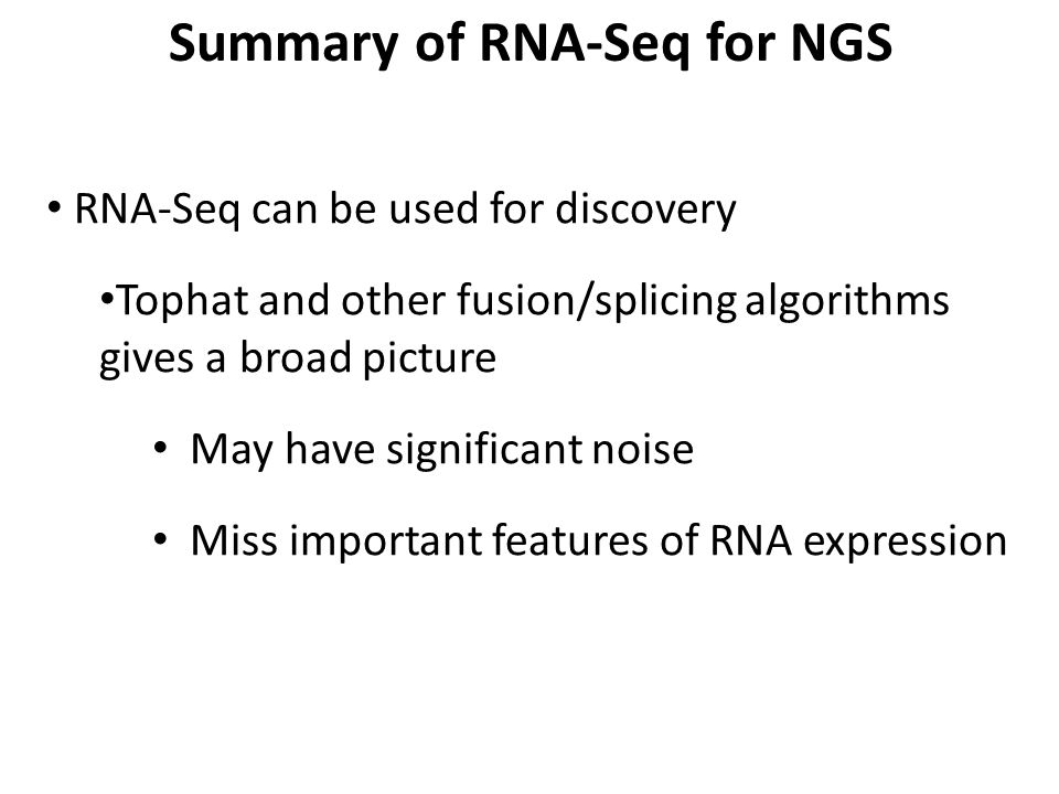 Summary of RNA-Seq for NGS