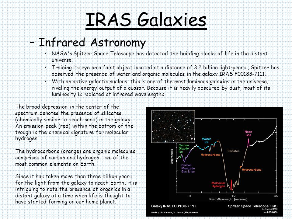 IRAS Galaxies Infrared Astronomy