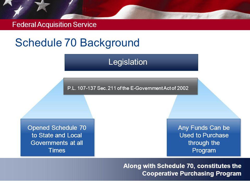 Schedule 70 Background Legislation