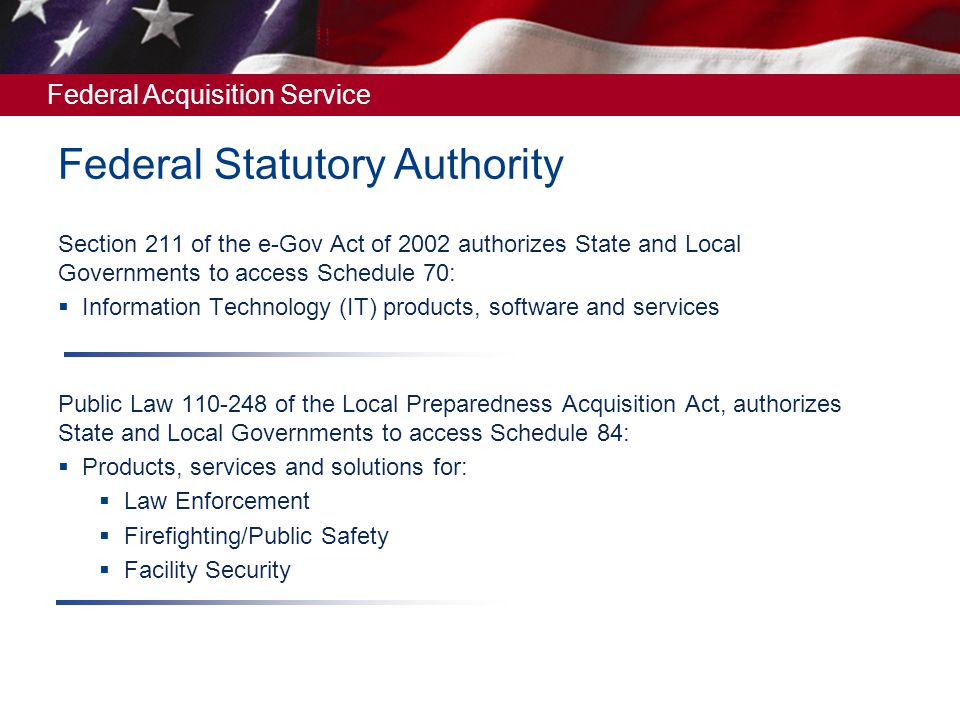 Federal Statutory Authority