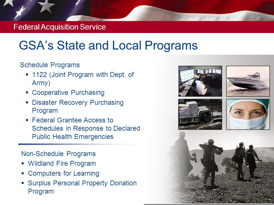 GSA's State and Local Programs