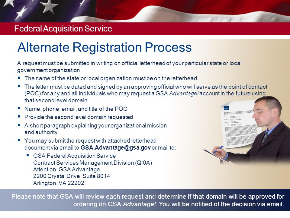 Alternate Registration Process