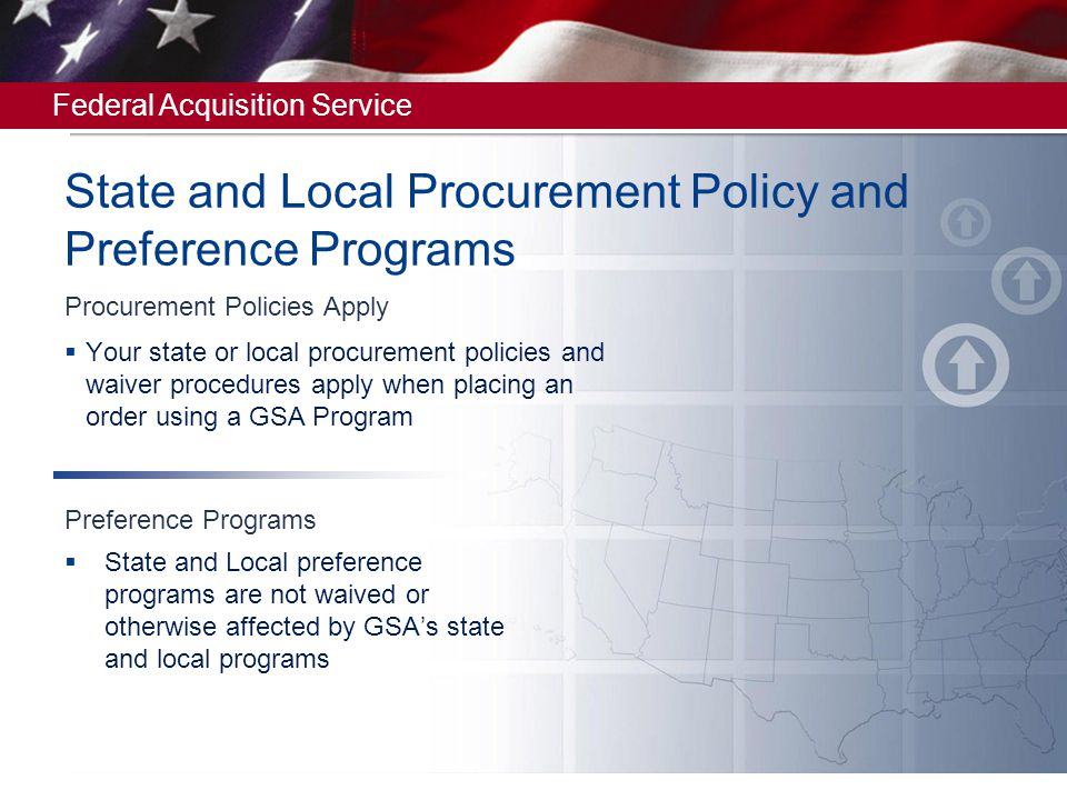 State and Local Procurement Policy and Preference Programs
