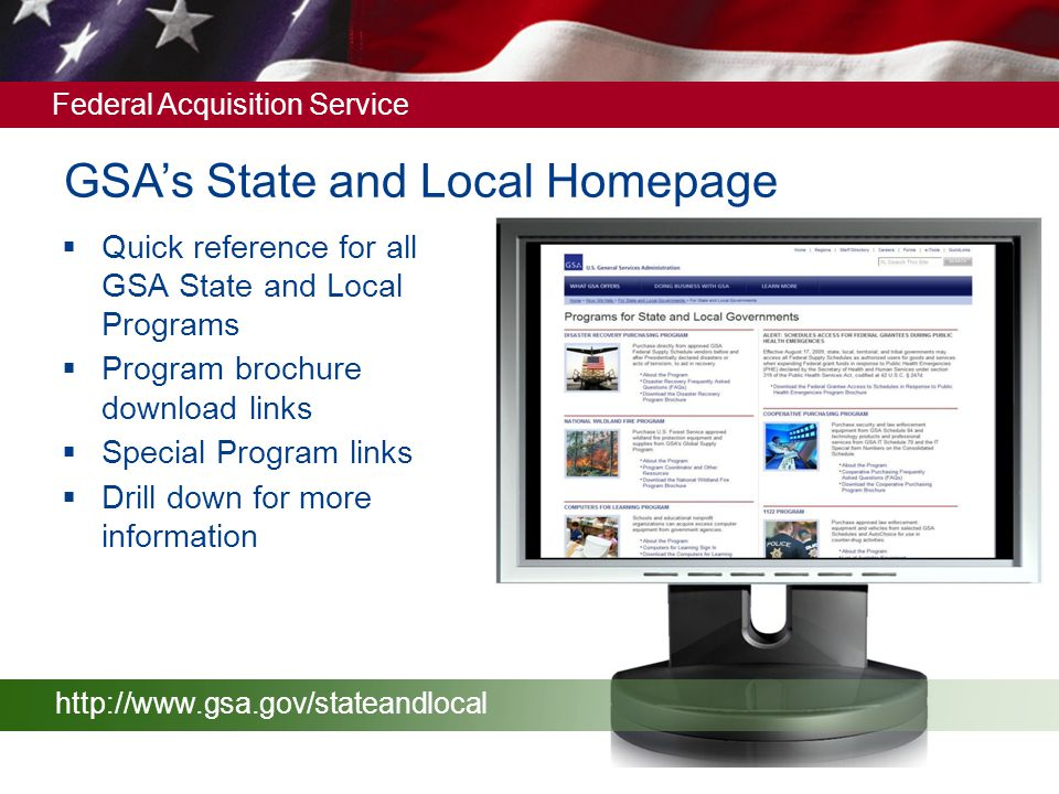 GSA's State and Local Homepage