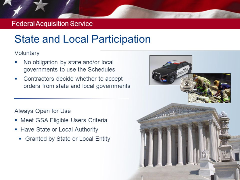 State and Local Participation