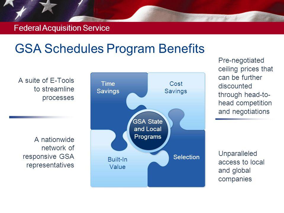 GSA Schedules Program Benefits