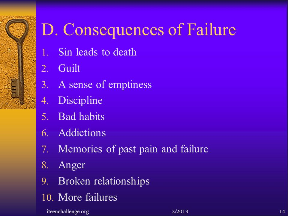 D. Consequences of Failure