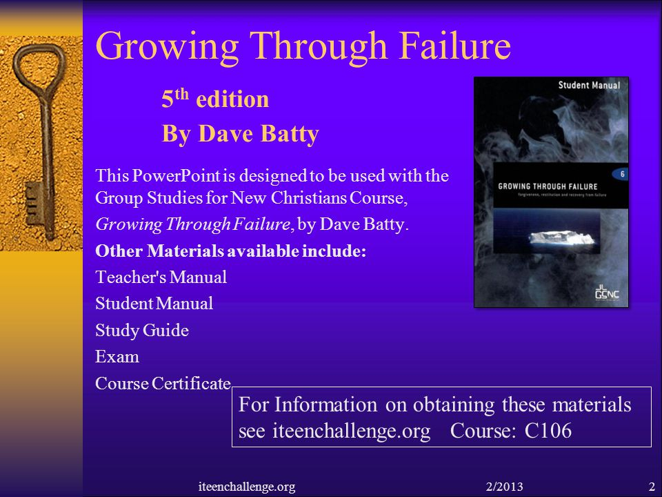 Growing Through Failure 5th edition By Dave Batty