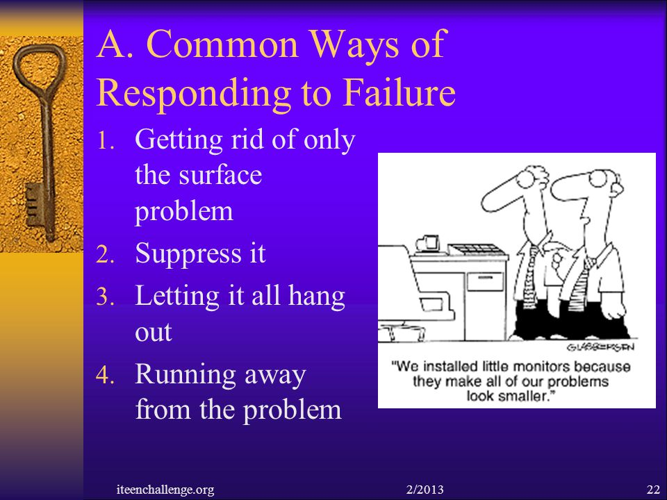A. Common Ways of Responding to Failure