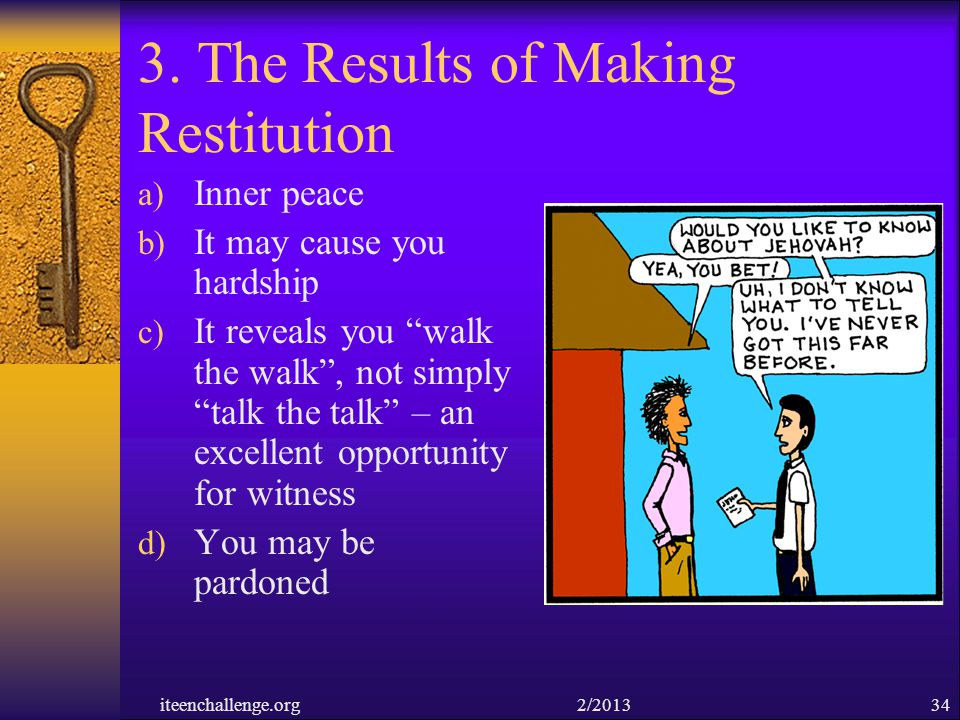 3. The Results of Making Restitution